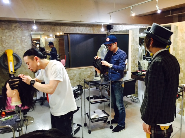 新宿の美容室savianヘアセット、ヘアメイク