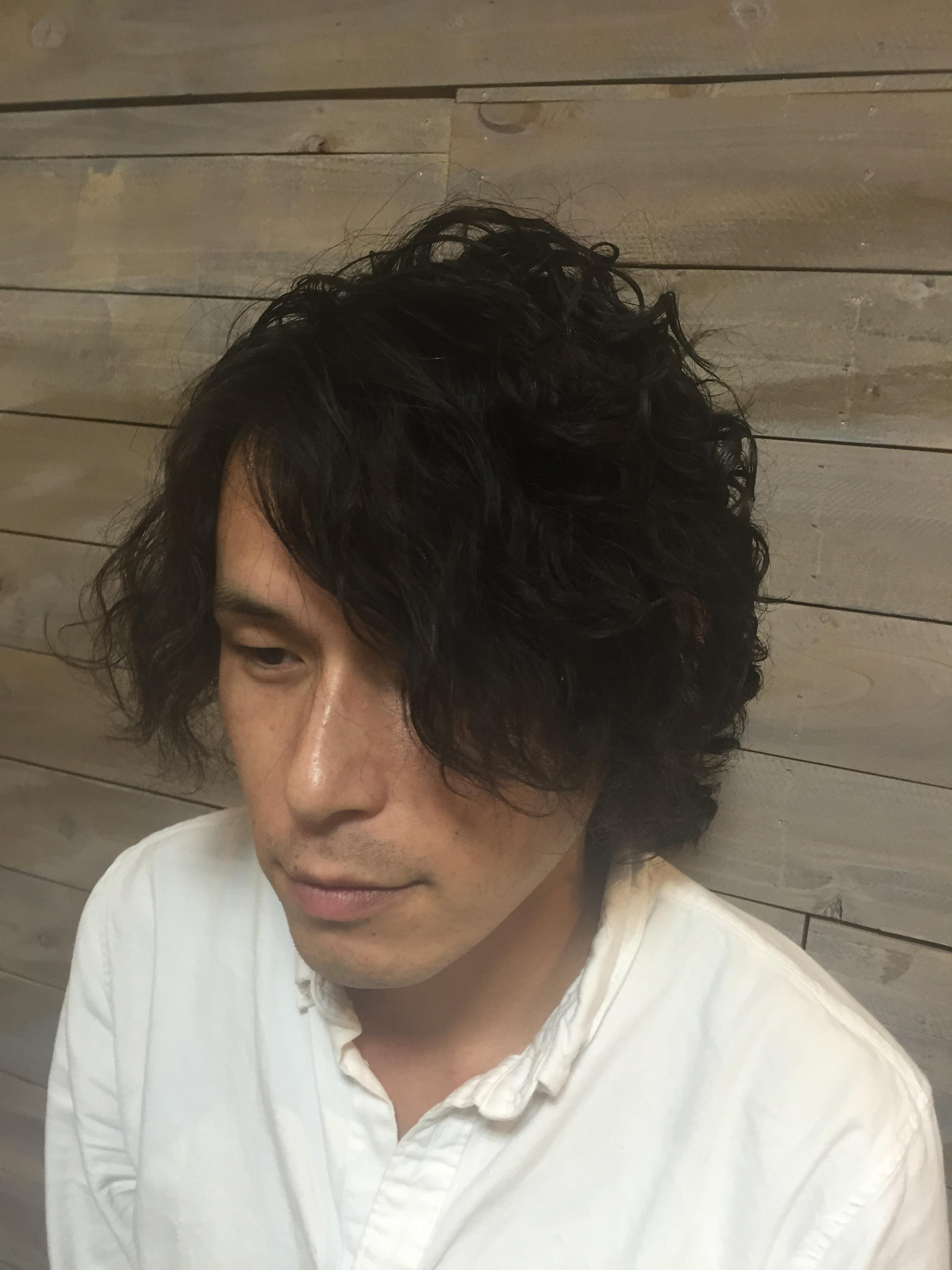 新宿美容室のカッコいいメンズパーマ