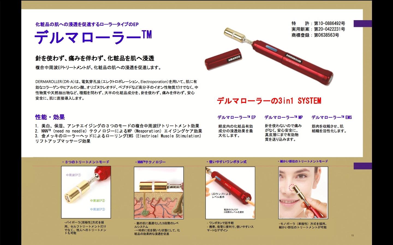 新宿の美容室セイヴィアン 韓国の美顔器デルマローラーがすごい!イオン導入の20倍の効果を発揮する!