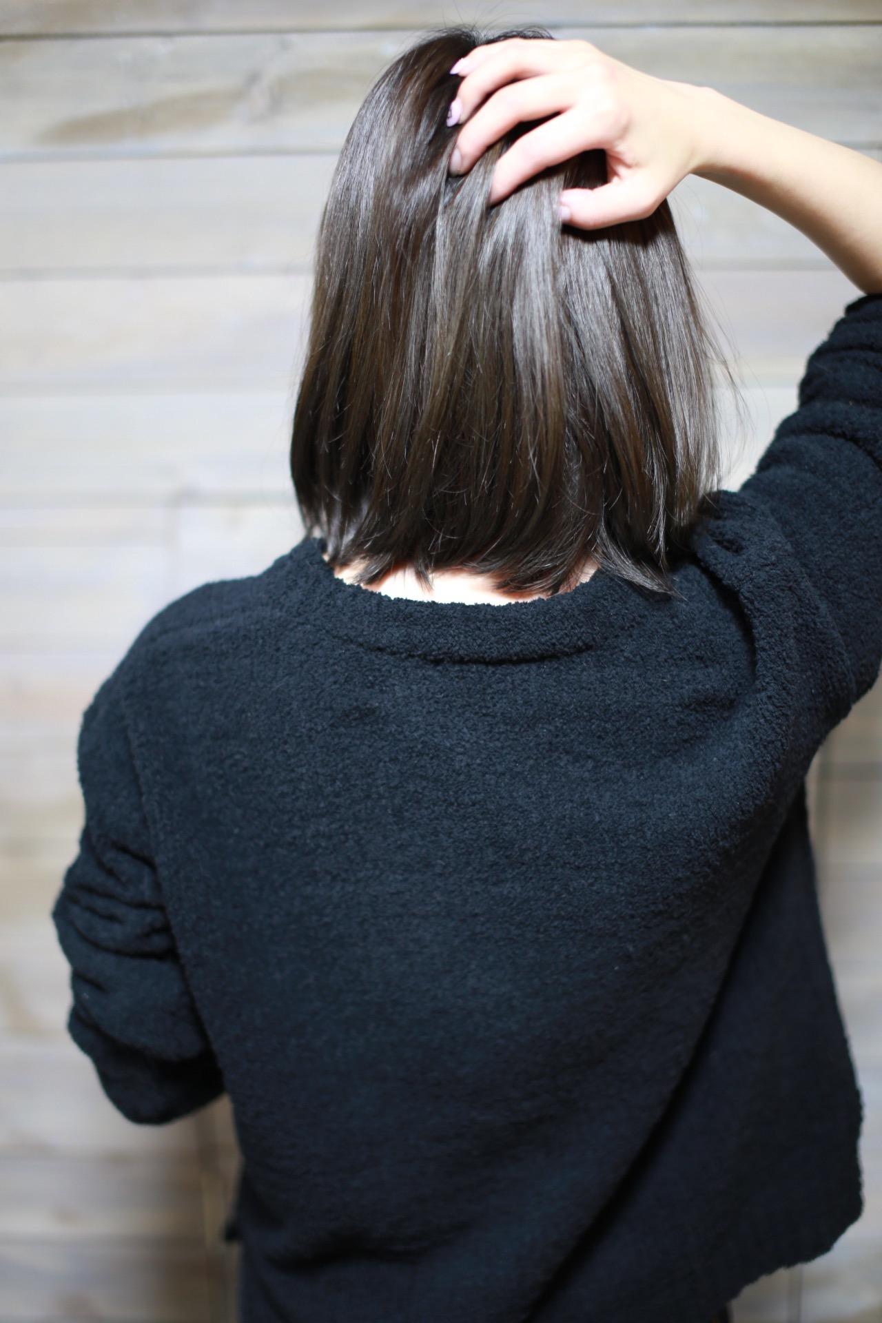 新宿の美容室セイヴィアンヘアカラーが上手い暗髪ダークトーンアッシュ
