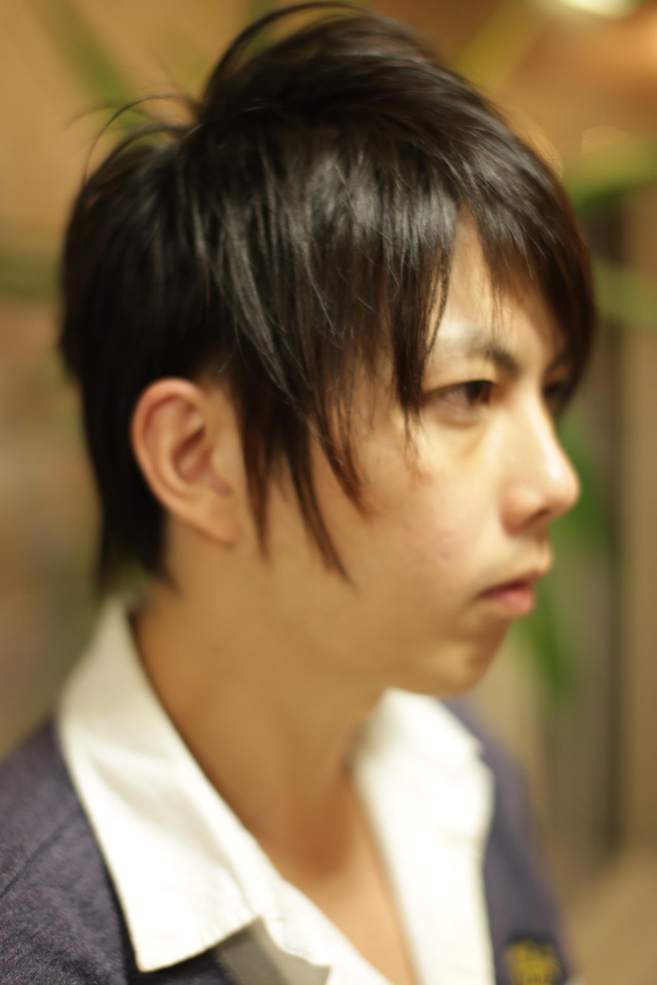 新宿の美容室savianのメンズカット スパイキーショート ショートヘア ツーブロック