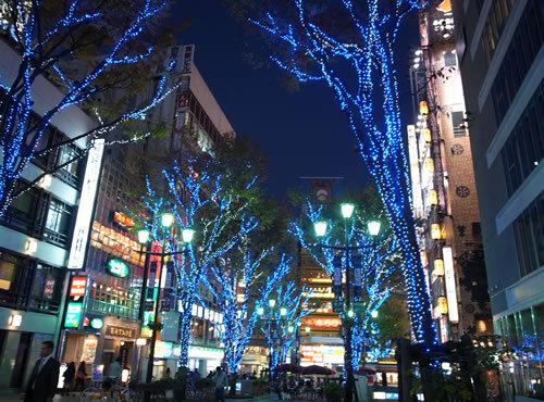 新宿東口の美容室のクリスマス